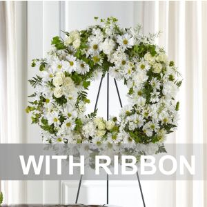 Wreath with ribbon